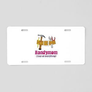 Handymom Fixer of Everything Aluminum License Plat