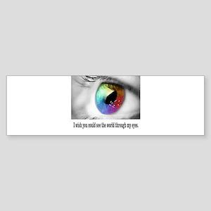 See through my eyes Bumper Sticker