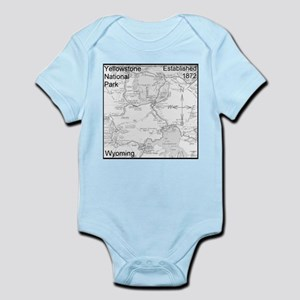 Map Yellowstone National Park Infant Bodysuit