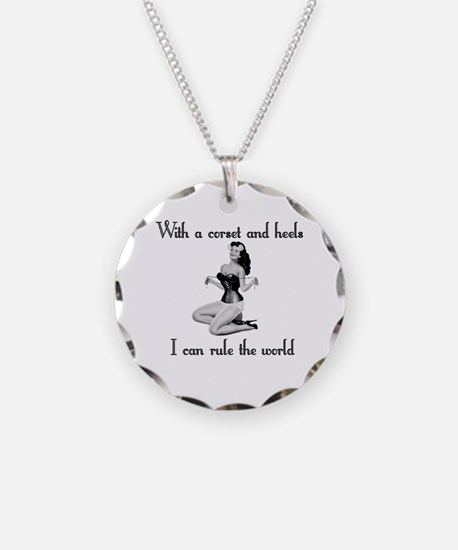 corset pinup Necklace