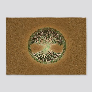Tree of Life by Amelia Carrie 5'x7'Area Rug
