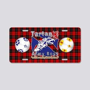 Scottish Red Tartan Army_b Aluminum License Plate