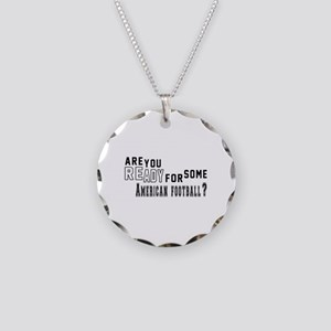 Are You Ready For Some Ameri Necklace Circle Charm