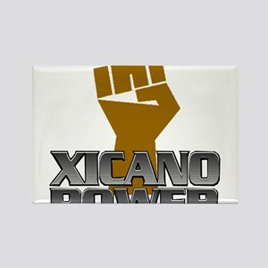Xicano Power Fist Rectangle Magnet