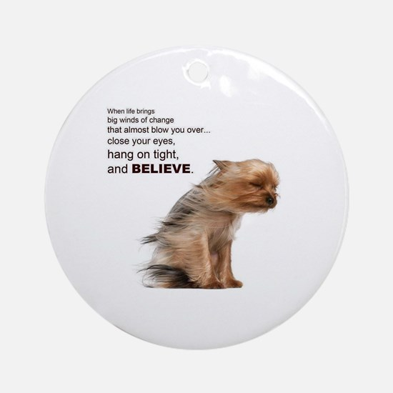 Yorkie Round Ornament