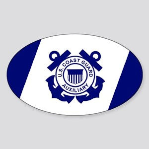 USCGAux-Flag-Sticker Sticker