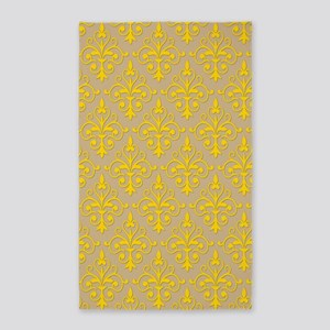 Freesia & Sand Damask 41 3'x5' Area Rug