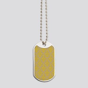 Freesia & Sand Damask 41 Dog Tags