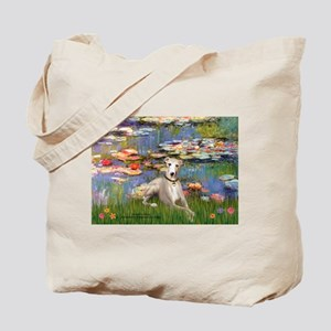 Lilies & Whippet Tote Bag