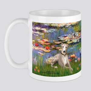 Lilies & Whippet Mug