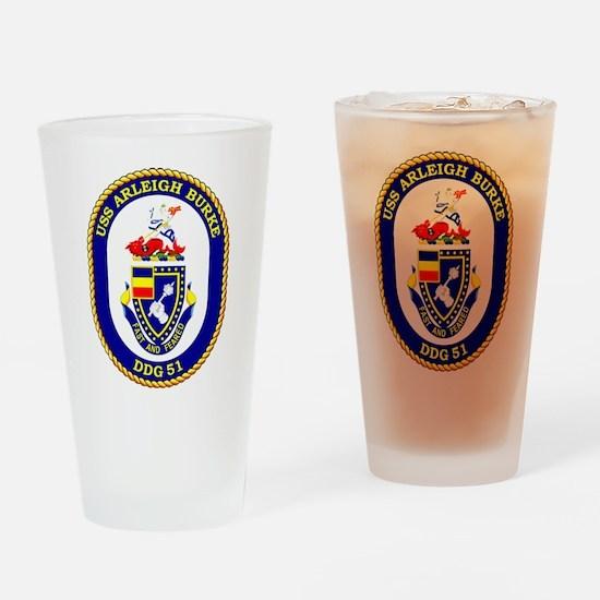 USS Arleigh Burke DDG-51 Drinking Glass