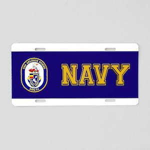 USS Arleigh Burke DDG-51 Aluminum License Plate