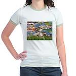Lilies & Whippet Jr. Ringer T-Shirt
