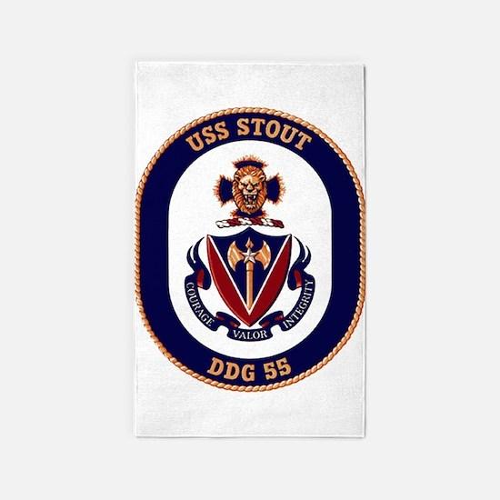 DDG-55 USS Stout 3'x5' Area Rug