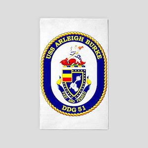 USS Arleigh Burke DDG-51 3'x5' Area Rug