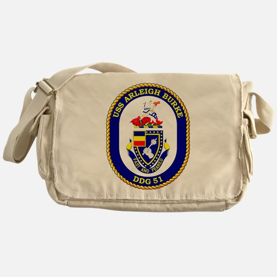 USS Arleigh Burke DDG-51 Messenger Bag