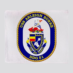 USS Arleigh Burke DDG-51 Throw Blanket