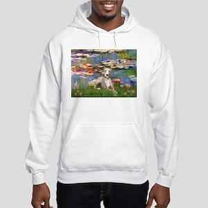 Lilies & Whippet Hooded Sweatshirt