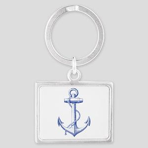 vintage navy blue anchor Keychains