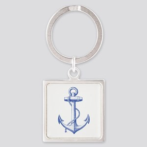 vintage navy blue anchor Keychains