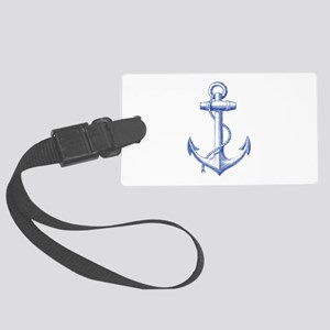 vintage navy blue anchor Luggage Tag