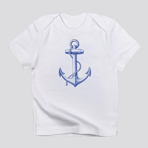 vintage navy blue anchor Infant T-Shirt