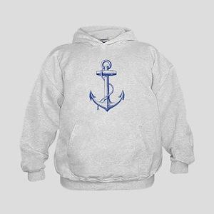 vintage navy blue anchor Hoodie