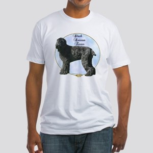 Black Russian Portrait Fitted T-Shirt