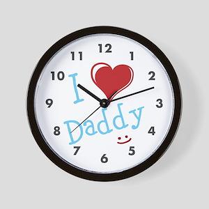 I Heart Daddy Wall Clock