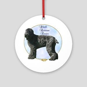 Black Russian Portrait Ornament (Round)