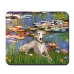 Lilies & Whippet Mousepad
