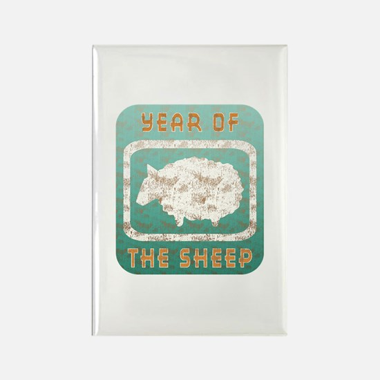 Year of The Sheep Rectangle Magnet