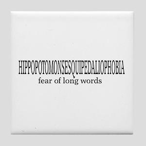 Long Words Tile Coaster