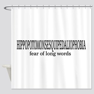 Long Words Shower Curtain