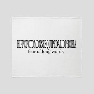 Long Words Throw Blanket