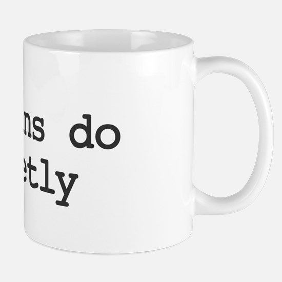 Librarians do it quietly  Mug