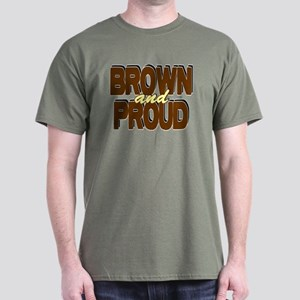 Brown and Proud Dark T-Shirt