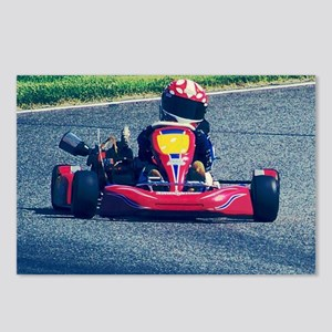 Kart Racer Old Photo Styl Postcards (Package of 8)