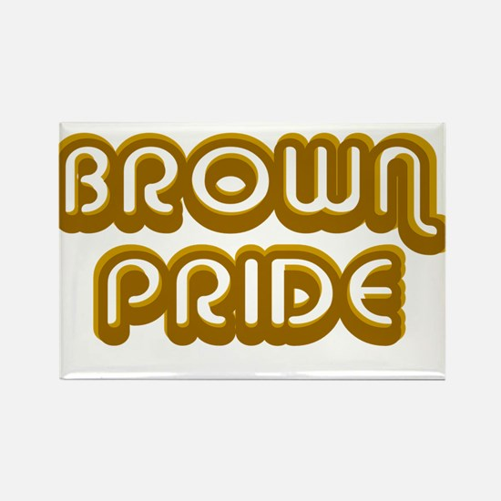 Brown Pride Rectangle Magnet