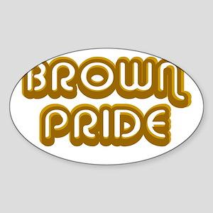 Brown Pride Oval Sticker