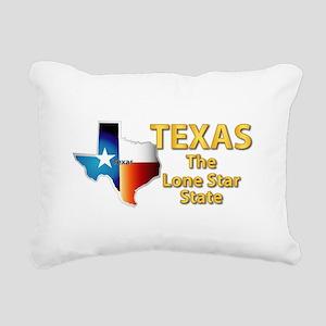 State - Texas - Lone Sta Rectangular Canvas Pillow