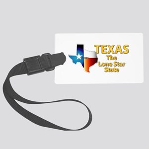 State - Texas - Lone Star State Large Luggage Tag