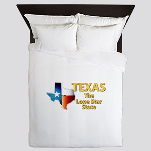 State - Texas - Lone Star State Queen Duvet
