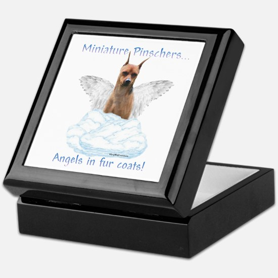 Min Pin Angel Keepsake Box