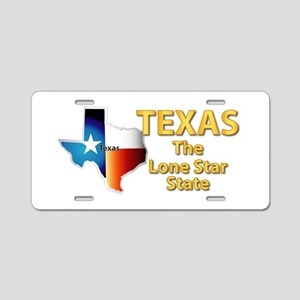 State - Texas - Lone Star S Aluminum License Plate