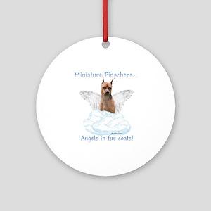 Min Pin Angel Ornament (Round)