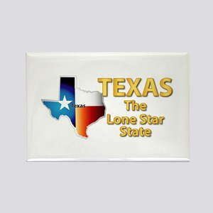 State - Texas - Lone Star State Rectangle Magnet