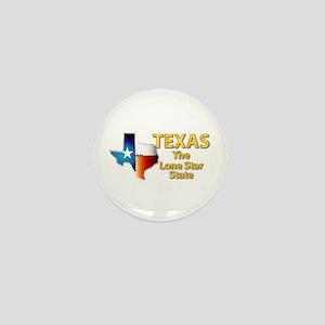 State - Texas - Lone Star State Mini Button