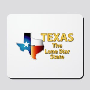 State - Texas - Lone Star State Mousepad