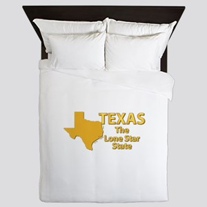 State - Texas - Lone StarState Queen Duvet